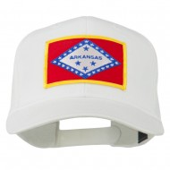 Middle State Arkansas Embroidered Patch Cap - White