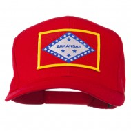 Middle State Arkansas Embroidered Patch Cap - Red