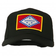 Middle State Arkansas Embroidered Patch Cap - Black