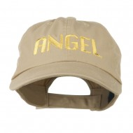 Angel Embroidered Cap - Khaki