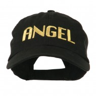 Angel Embroidered Cap - Black