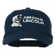 Abraham Lincoln Embroidered Washed Cap - Navy