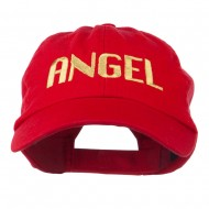 Angel Embroidered Cap - Red