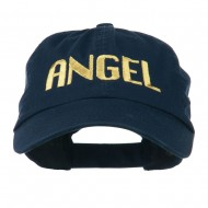 Angel Embroidered Cap - Navy