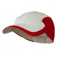 Athletic Moisture Absorbing Hat - White Red