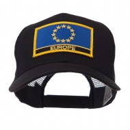 Asia, Australia and Other Flag Letter Patched Mesh Cap - Europe
