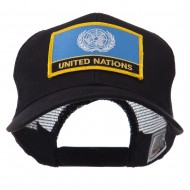 Asia, Australia and Other Flag Letter Patched Mesh Cap - United Nations