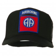 82nd Airborne Military Patched Mesh Cap - Black