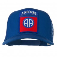 82nd Airborne Military Patched Mesh Cap - Royal