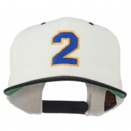 Athletic Number 2 Embroidered Classic Two Tone Cap - Natural Black