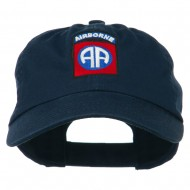 82nd Airborne Military Embroidered Pigment Dyed Cotton Cap - Navy
