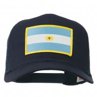 Argentina Flag Patched Mesh Cap - Navy