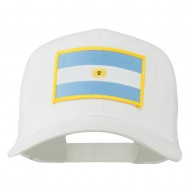 Argentina Flag Patched Mesh Cap - White