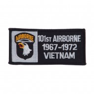Air Borne Rectangle Embroidered Military Patch - 101st