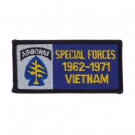 Air Borne Rectangle Embroidered Military Patch - Special Force