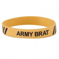 Army Silicone Wristband - Yellow