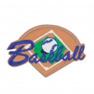Baseball Embroidered Patch - Brown