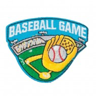 Baseball Game Embroidered Patch - Blue
