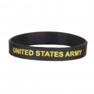 Army Silicone Wristband - Army Gold