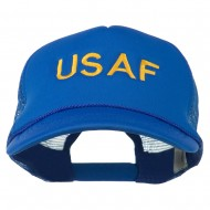 USAF Military Embroidered Mesh Cap - Royal
