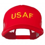 USAF Military Embroidered Mesh Cap - Red