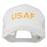 USAF Military Embroidered Mesh Cap - White