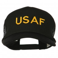 USAF Military Embroidered Mesh Cap - Black