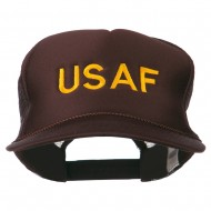 USAF Military Embroidered Mesh Cap - Brown