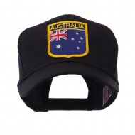 Asia Australia and Other Flag Shield Patch Cap - Australia
