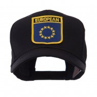 Asia Australia and Other Flag Shield Patch Cap - European