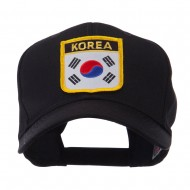 Asia Australia and Other Flag Shield Patch Cap - Korea
