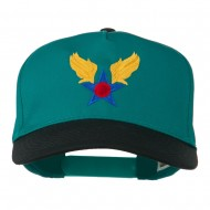 Army Air Badge Embroidered Two Tone Cap - Black Jade