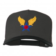 Army Air Badge Embroidered Two Tone Cap - Black Charcoal