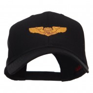 Astronaut Badge Embroidered Cap - Black