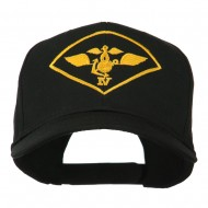 Air Wing IV Military Badge Embroidered Cap - Black