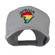 Map of Africa with Word Embroidered Cap - Grey
