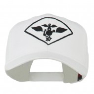Air Wing IV Military Badge Embroidered Cap - White