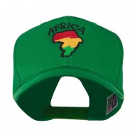 Map of Africa with Word Embroidered Cap - Kelly