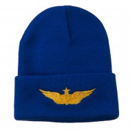 Aircraft Crewman Embroidered Long Beanie - Royal