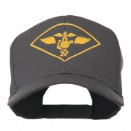 Air Wing IV Military Badge Embroidered Cap - Charcoal Grey