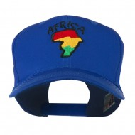 Map of Africa with Word Embroidered Cap - Royal