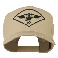 Air Wing IV Military Badge Embroidered Cap - Khaki