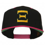 Greek Alphabet Xi Embroidered Classic Two Tone Cap - Black Pink