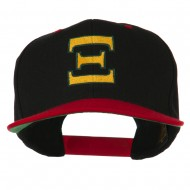Greek Alphabet Xi Embroidered Classic Two Tone Cap - Black Red