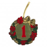 US Army Embroidered Ornament Medallion - Green Red