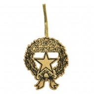 Embroidered Ornament Medallion US Navy - Gold