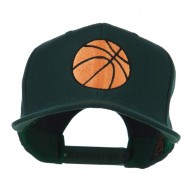 Basketball Embroidered Flat Bill Cap - Spruce