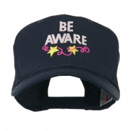 Be Aware Cancer Awareness Embroidered Cap - Navy