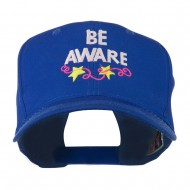 Be Aware Cancer Awareness Embroidered Cap - Royal