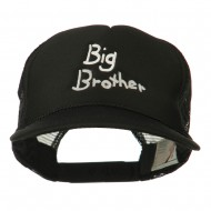 Big Brother Embroidered Youth Foam Mesh Cap - Black